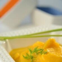 Puré de zanahoria, calabaza, y cebolla