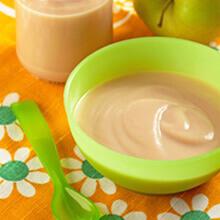 Puré de frutas con yogur