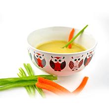 Puré fino de judías verdes dulces con zanahoria