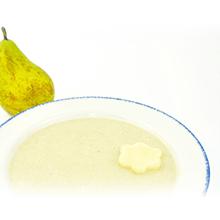 Papilla de quinoa, cereales y pera