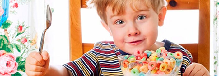 Niños con gran apetito