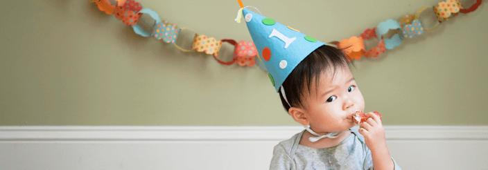 Su primera tarta de cumpleaños