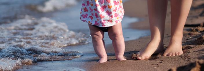 Piernas arqueadas en el bebé