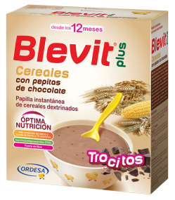 Blevit plus Trocitos Cereales con pepitas de chocolate